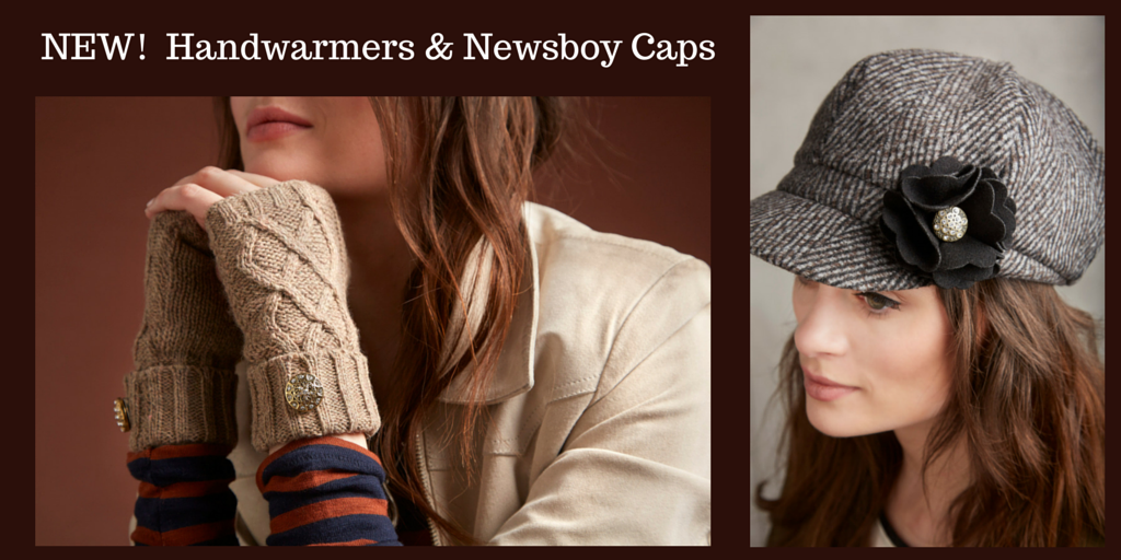 NEW! Handwarmers & Newsboy Caps