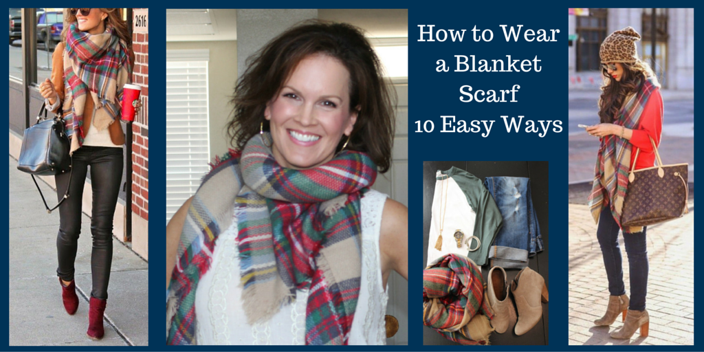 How to Wear a Blanket Scarf 10 Ways 2